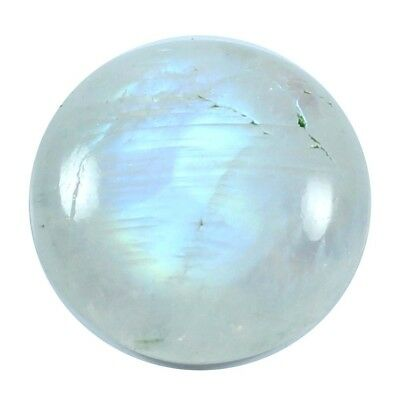 19.35ct 100% Natural Top Quality Rainbow Moonstone Cabochon Round Loose Gemstone