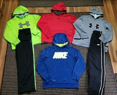 Lot of Under Armour and Nike Hoodies & Athletic Pants Boys Size XL