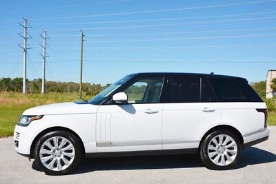 2015 Land Rover Range Rover Supercharged Sport Utility 4-Door 2015 RANGE ROVER V8 SUPERCHARGED - 1 OWNER - REAR DVD - WHITE ON WHITE - AMAZING