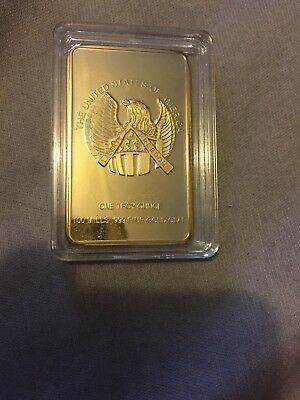 One Troy Ounce Gold Clad Bar United States of America