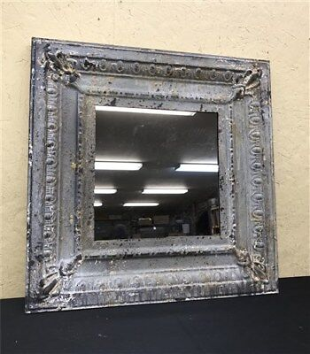"""24"""" Square Ceiling Tin Mirror Rustic French Country Shabby Chic Decor Art a"""