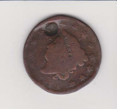 1819 Large Penny 198 Years Old--Nice Color/ Detail    Free Shipping