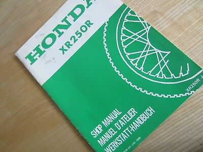 NOS Honda XR250R XR250 Workshop Manual Supplement  66KT100X  RJ
