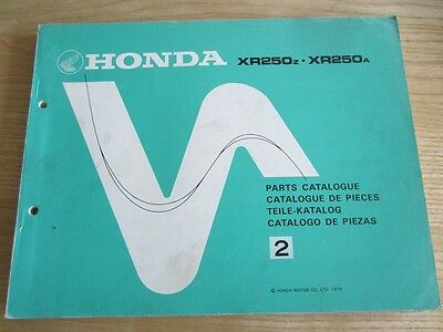 NOS Honda  XR250 1979 1980 Workshop Manual + Parts Manual OEM Twinshock