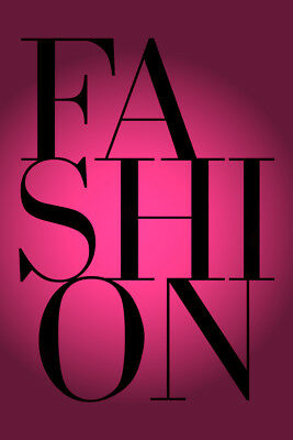 Fashion Poster Typography Pink Boutique Chanel No5 Vogue Dior Ysl