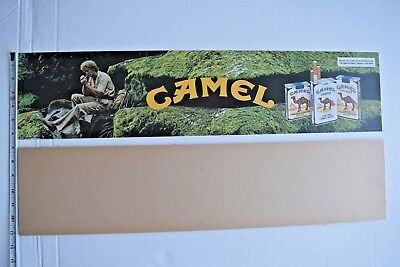 Cigarette Vending Machine CAMEL translite sign and plexi -*NEW