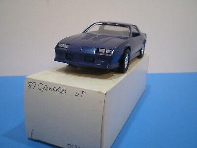 1987 Chevy Camero in blue promo stock with no box