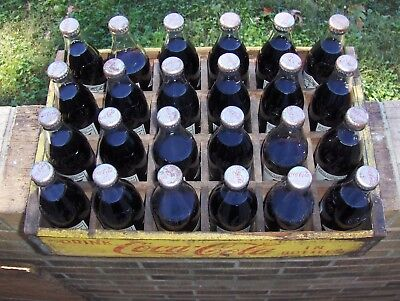 Vintage Coca Cola 75Th Aniversary Wood Crate 24 Bottles