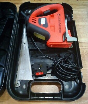 Black Decker KS890GT Scorpion Hand Reciprocating Saw with Blades & Carry Case
