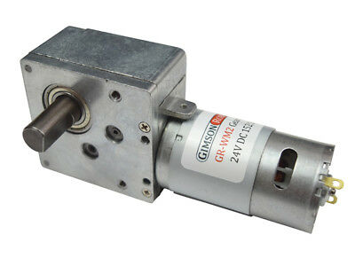 12V 24V DC High Torque Worm Gear Electric Motor 152:1 Right-Hand Strong Powerful