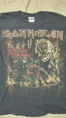 Iron Maiden The Number Of The Beast World Tour 1982-83 Concert Shirt