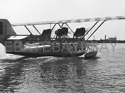 8x6 photo - SISA Cant 10 seaplane I-AACL San Giusto Trieste seaplane base, c1930