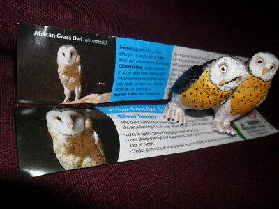 Yowies Brand New *2017 Yowies Are Back * African Grass Owl * 2 Variations Papers
