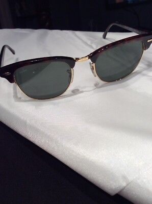 Authentic Ray Ban Clubmaster Sunglasses 51 21 W0366 RB3016 Italy Shades Wayfarer