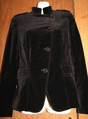 theory Cotton Blend Chocolate Brown Button Front LS Lined Blazer Jacket 4