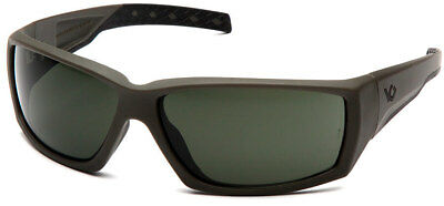 Venture Gear Overwatch Tactical Sunglasses, OD Green, Smoke Green Anti-Fog Lens