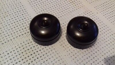 bakelite and china light switches set of 2