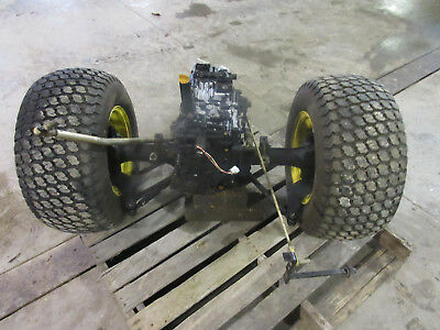 JOHN DEERE 425 AWS Mower Rear Hydro Transmission Axle Transaxle Tire Assembly