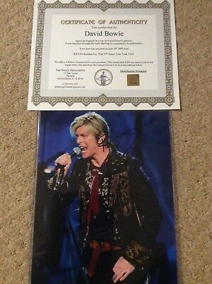 David Bowie Signed Picture Autograph RARE with COA