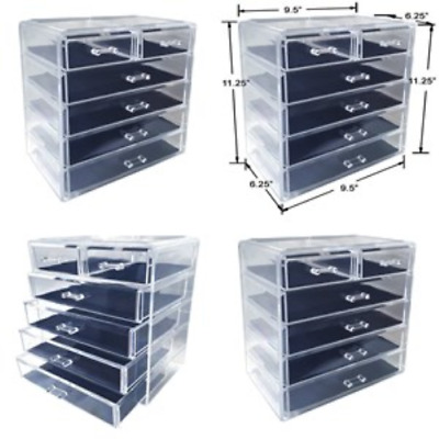 Extra Large Tiers Clear Acrylic Cosmetic Makeup Cube Organizer Storage Beautify