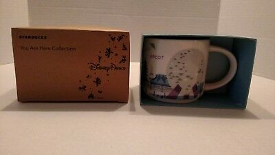 New DISNEY Parks Starbucks You Are Here Collection EPCOT Mug MONORAIL Worldcase