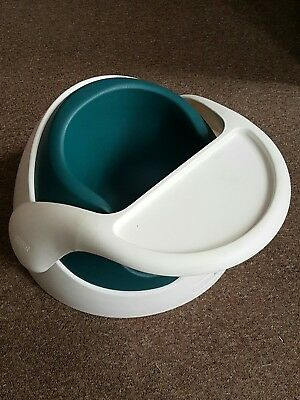 Mamas & Papas Snug Baby Seat With Tray / White & Teal / Rrp £36.99