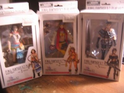 Final Fantasy X-2 Play Arts action figures, Set of 3, Yuna,Rikky,&Maine