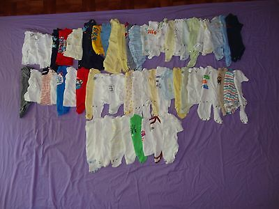 Lot of 100 Baby Boy Clothes Outfits Sleepers Newborn-3 Months Mixed All Season