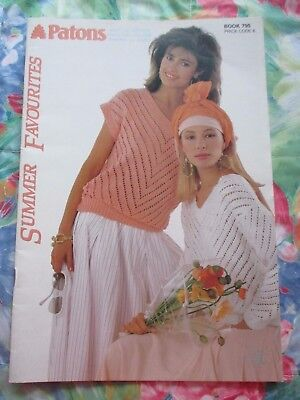 Patons Summer Favourites Knitting Pattern Book #795 ~ 10 Lady'S Lacy Designs