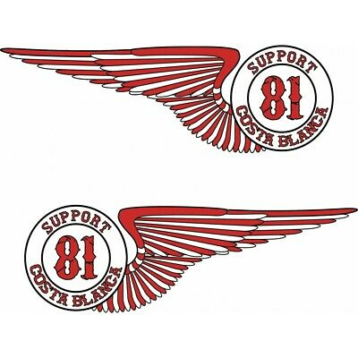 49 Hells Angels Support 81 aufkleber  Wings 2x (15cm)