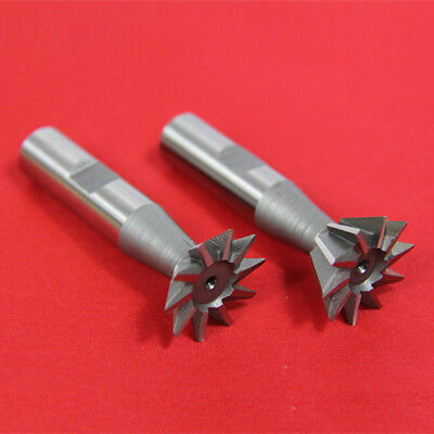"2 Pc 3/8"" X 45? & 3/8"" X 60? Dovetail Cutter Set High Speed Steel Hss Milling"