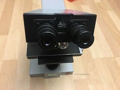 Ernst Leitz Wetzlar SM LUX Microscope with 2 Objectives and Eyepieces