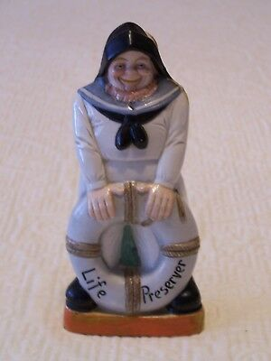 Vintage Schafer & Vater Nipper Flask    German Sailor Life Preserver