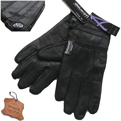 Ladies Leather Gloves Thermal Fleece Lined Black Driving Soft Winter Glove Warm.