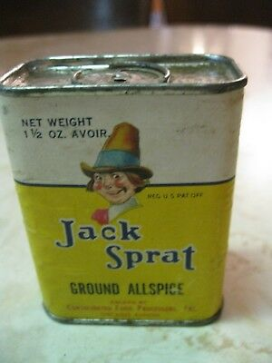 Vintage Jack Sprat Ground Allspice Tin Chicago, Illinois + Whole Cloves Box