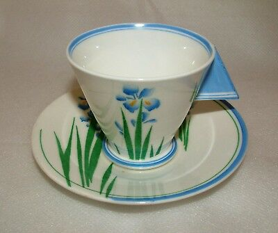Rare Shelley Mode Shape Cup & Saucer #1 - Design 11850 Blue Iris - Perfect