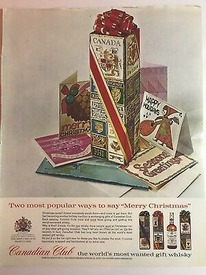Canadian Club Whiskey Advertising vintage ad Christmas holidays