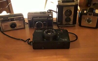 Lot Of 5 Cameras 1 Cannon 4 Kodak They