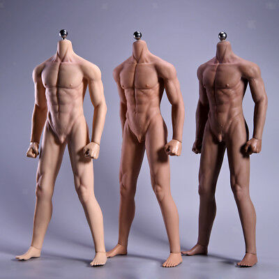 1/6 Super Soft Seamless Muscular Male Figure Steel Body & Accessories For Phicen