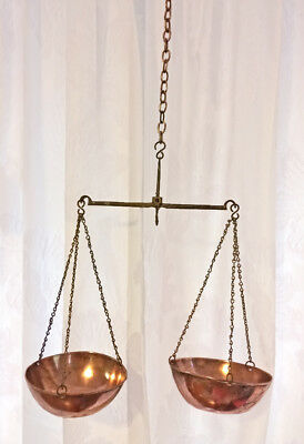 Antique English Copper Brass Iron Weight Scales Birmingham England