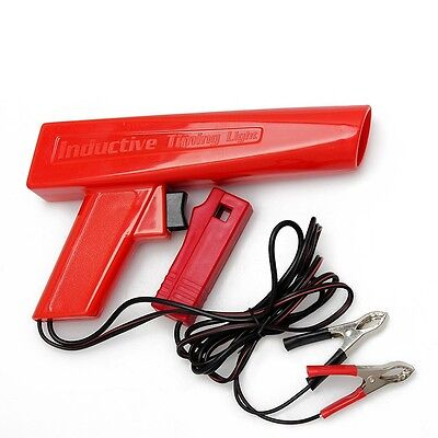 12V Timing Light Gun Tester Ignition for Car Motorcycle Inductive Xenon Lamp Red