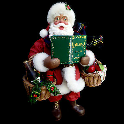 """Clothtique Possible Dreams Santa Claus & Wine / """"a Song In His Heart"""" / #713472"""