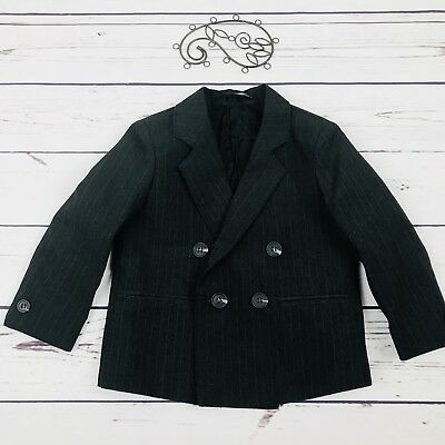 All Dressed Up Boys Pinstripe Double Breasted Suit Coat Jacket 2t
