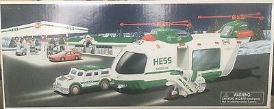 HESS 2001 Helicopter motorcycle and cruiser NIB !