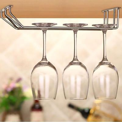 Stainless Steel Wine glass holder Hanging Drinking Glasses Stemware Rack