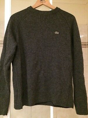 Lacoste 100% Cotton Jumper Grey Size 4 Unisex Mint Condition
