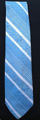 Vtg 60s 70s Beau Brummel Polyester Tie Mr. Wonderful Pegasus Baby Blue White