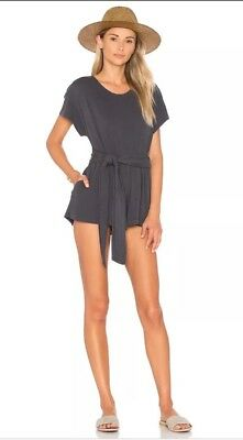 NWT Free People Easy Street Carbon Gray Short Romper One Piece Size S ($78)