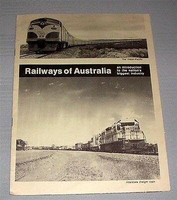 Railways of Australia, intro to nation's biggest industry, SC book
