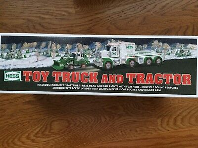 2013 Hess Toy Truck and Tractor. New in box never opened